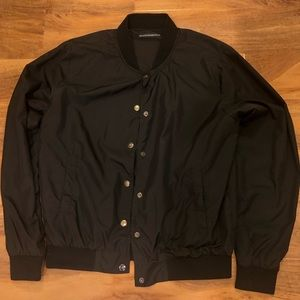 Brandy Melville black button up bomber jacket